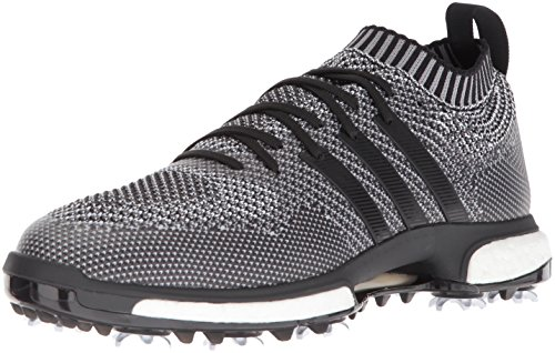adidas Men's TOUR360 Knit Golf Shoe, Core Black/Grey Three FTWR White, 10.5 Medium US