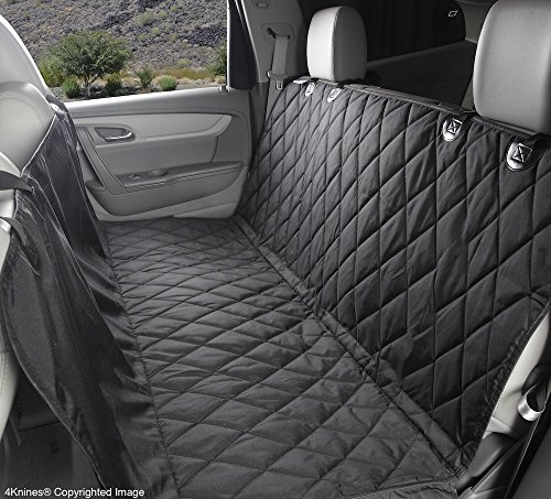 Dog Seat Cover With Hammock for Cars, Trucks and SUVs - NEW Waterproof Seat Bottom - USA Based Company (Regular, Black)