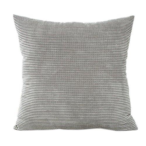 iuhan fashion cotton corduroy cushion cover decorative sofa home throw pillow case gray