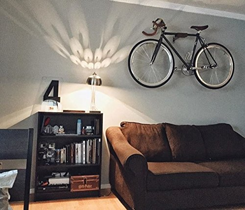 Play-Haus Design Walnut and Steel Indoor Bicycle Wall Mount Hanger Rack 2'' by Play-Haus Design (Image #4)