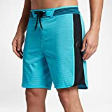 Hurley - Mens Phantom Hyperweave Motion Stripe Boardshorts, Chlorine Blue, 36