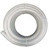 3'' Dia. x 100 ft HydroMaxx Clear Flexible PVC Suction and Discharge Hose with White Reinforced Helix
