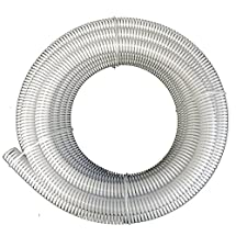 "1"" Dia. x 50 ft - HydroMaxx® Clear Flexible PVC Suction and Discharge Hose with White Reinforced Helix"