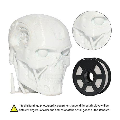 anycubic PLA 3d impresora filamento, tolerancia el diámetro es de +/-0,02mm, bobina de 1kg, 1.75mm para impresora 3d y 3d de bolígrafos, color blanco