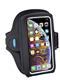 Armband Compatible with iPhone X Xs 8 7 6s 6 with OtterBox Defender / LifeProof Case - Fits Galaxy S8 S9 S10 with Large Case - For Running & Working Out - Sweat-Resistant