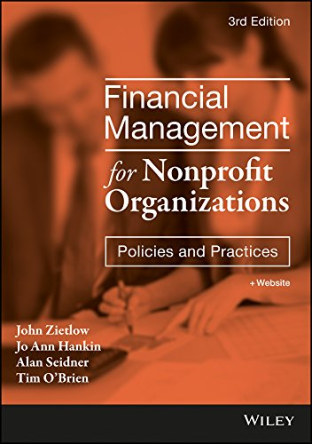 Financial Management for Nonprofit Organizations: Policies and Practices by Wiley