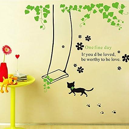 HCCY Cartoon granja fresco gatos Persas y wall-habitación infantil dormitorio Salón TV mosaico de