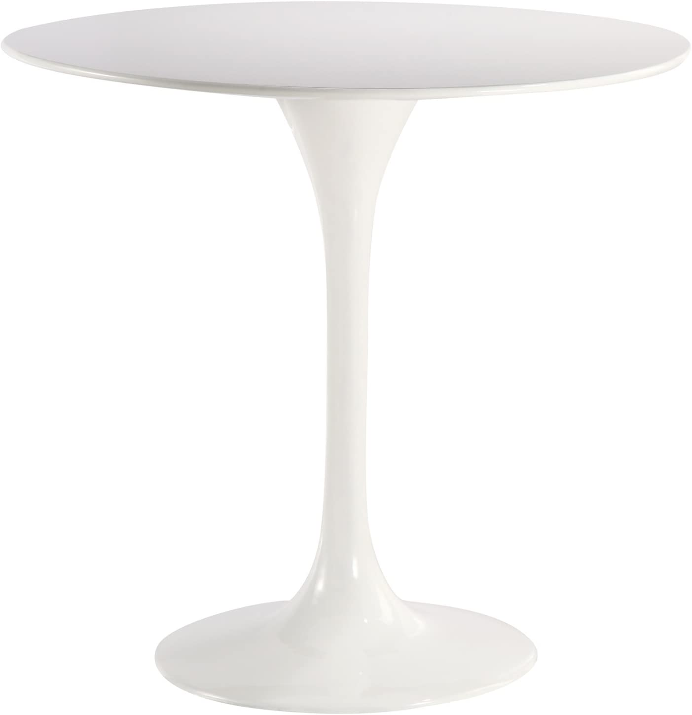 "Poly and Bark Daisy 40"" Fiberglass Dining Table in White"