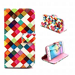 For Samsung Galaxy S6 Edge / G925 Case, LEMORRY Wallet Soft Core Stand Flip Folio Magnet Closure Premium PU Leather Card Slot Protective Cover Holster Fashion Print Style 13