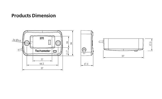 Jayron JR-HM019J Tacómetro inductivo digital LCD de gasolina para ...