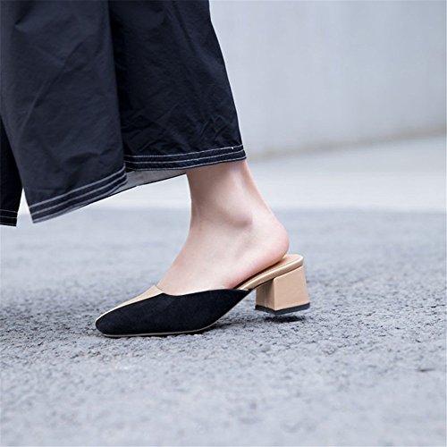 carrées avec Multicolore Coutures antidérapantes Yiwuhu des 3 épaisses 1 Couleur EU Multicolore Pantoufles Sauvage Taille 37 EISUqqwW