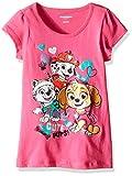 Nickelodeon Little Girls Paw Patrol Cute Pups Short Sleeve Tee Shirt, Pink, 4T