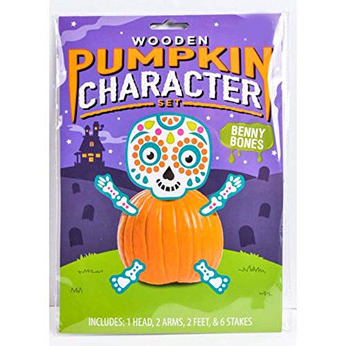Day of The Dead Dia de Los Muertos Skeleton Pumpkin Craft Kit Wood Pieces (Benny Bones)