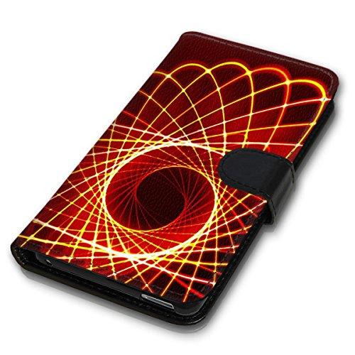 Wallet Book Style Flip Handy Tasche Case Schutz Hülle Schale Motiv Etui für Apple iPhone 5 / 5S - Design Flip MV86