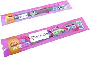 Mylar Bags Smell Proof Mylar Bags Resealable Stand-up Ziplock Foil Bags Food Safe Plastic Aluminum Material (Pink (400mg), 100)