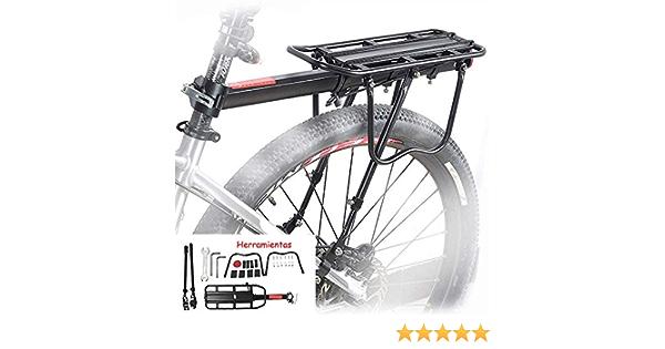 homelikesport Portaequipajes Trasero de Aluminio para Bicicleta Pequeñas Cargas,los Desplazamientos Cortos, el Porta Alforjas.: Amazon.es: Deportes y aire libre
