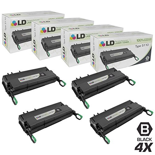 (LD Remanufactured Toner Cartridge Replacement for Ricoh 430452 Type 5110 (Black, 4-Pack))