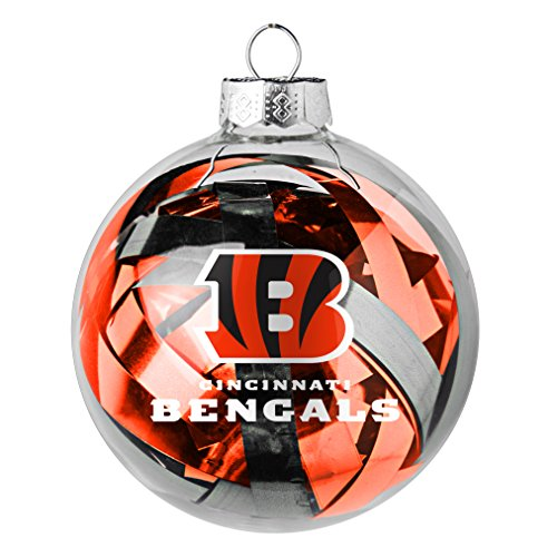 NFL Bengals Tinsel Ball Ornament