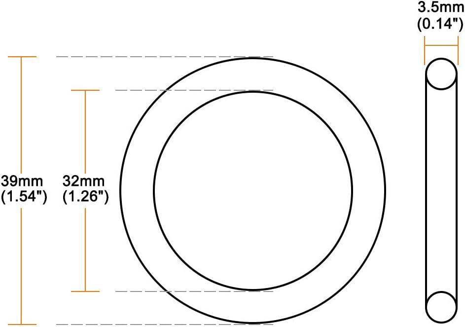 Joint /étanch/éit/é rond ID 32mm OD 39mm large 3,5mm 10pc