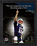 Tom Brady New England Patriots ProQuotes Photo (Size: 12'' x 15'') Framed