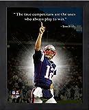 Tom Brady New England Patriots ProQuotes Photo (Size: 9'' x 11'') Framed
