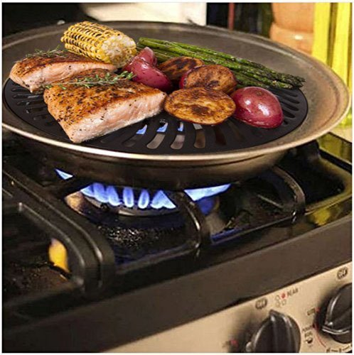 #1 Dr. Recommended Healthy Indoor Stove top Smokeless BBQ Grill Kitchen BBQ Barbecue (Stovetop Smokeless Indoor Grill It Grill)