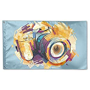 Home Garden Flags Camera Drawing Polyester Flag Indoor/Outdoor Wall Banners Decorative Flag Garden Flag 3' X 5'
