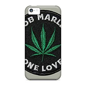 KimberleyBoyes Iphone 5c Protective Cell-phone Hard Cover Unique Design Trendy Bob Marley Skin [SsY16867vvkK]