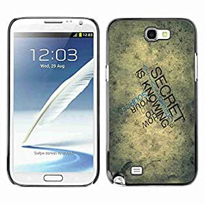 Planetar® ( Typography Secret ) Samsung Galaxy Note 2 II / N7100 Fundas Cover Cubre Hard Case Cover
