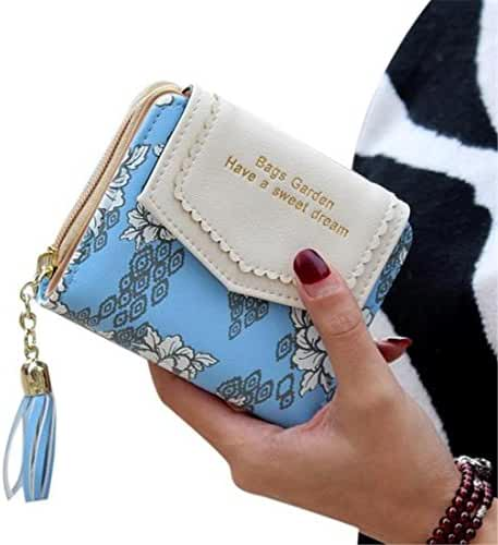 Ladies Clutch Wallet,Hemlock Women Pocket Wallet Credit Card Purse MIni Handbag (Blue)
