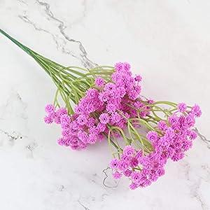 lasenersm 21 Pieces Artificial Baby's Breath Artificial Gypsophila Flowers Artificial Flowers DIY Home Garden Wedding Decoration White Pink Purple 5