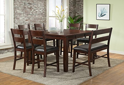 (Vilo Home Viola Heights Butterfly Leaf Pub Table)