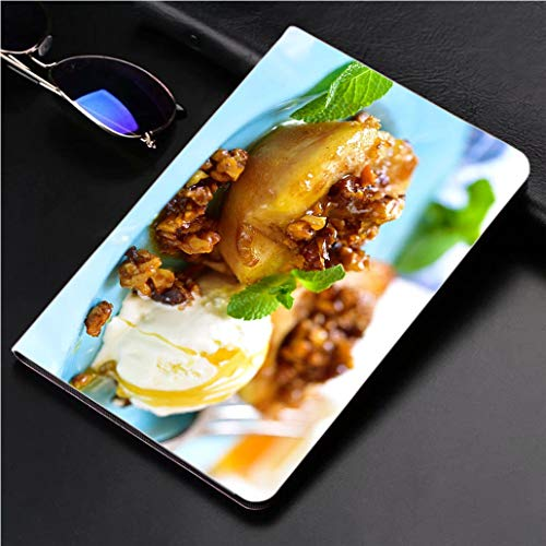 Compatible with 3D Printed iPad Pro 10.5 Case Grilled pear with caramelized Walnuts and Honey 360 Degree Swivel Mount Cover for Automatic Sleep Wake up ipad case