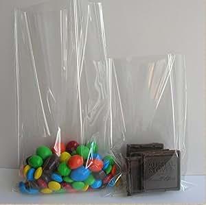 Clear Flat Cello/cellophane Treat Bag 6.5x9.5 Inch(1.6mil) Gift Basket Supplies 100x