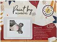 Cuadro decorativo. Diseño de Koala con Chicle. Kit de arte paint by numbers, pinta con números Xidaka. Lienzo,