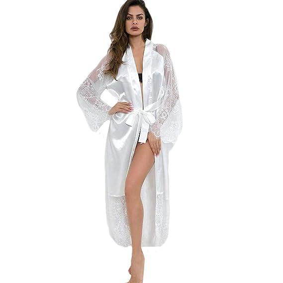 Chemise Liquidation Longue Délicat Dentelle Pure Day Sexy Couleur Robe Nuit Femmes Mode Satin lin Soie Grande De Lingerie Érotique Pyjamas Taille mnvNw80