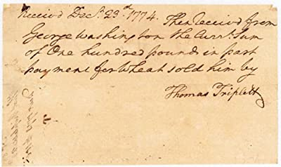President George Washington - Autograph Document Signed - December 23, 1774