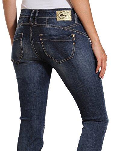 Femme Square Denim Nena 7736 Jean Bleu Wash Skinny Gang meridien no UxfWX8