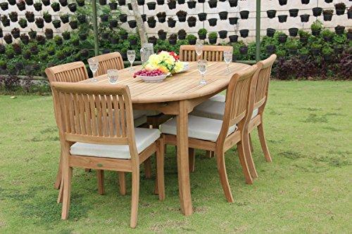 New 7 Pc Luxurious Grade-A Teak Wood Outdoor Dining Set - 117
