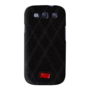 Stylish Black Leather Flag of China abrigo lleno carcasa Samsung Galaxy S3 de UltraFlags