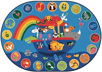 Noah's Voyage Circletime Kid$ Value Plus Rug - 6' x 9' Oval