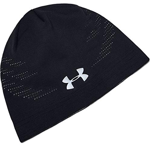 Under Armour Knit Ventilated Beanie, Black (001)/Silver Reflective, One Size Fits all (White Camo Under Armour Hat)
