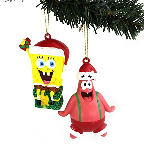 Spongebob and Patrick Kurt Adler Ornaments Gift Boxed (Spongebob & Patrick Santa) (Tree Sponge)