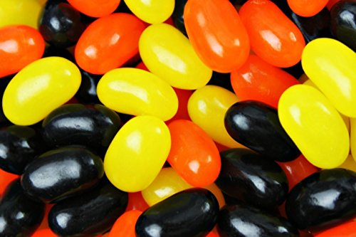Fall, Halloween Black, Orange & Yellow Jelly Beans - 2 Pound Sealed Bag