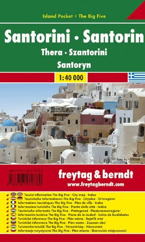 Santorini (Greece) 1:40 000 Pocket Map, laminated, FREYTAG, 2009 edition