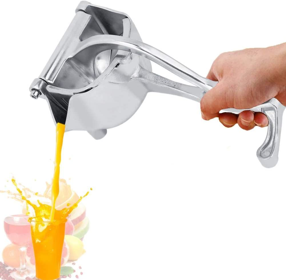 Manual Juicer, Stainless Steel Manual Hand Press Juicer Squeezer Household Fruit Juicer Extractor for Oranges, Lemons, Limes, Grapefruits and More