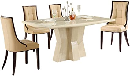 Caprice 1800 Rectangular Marble Dining Table And Chairs Amazon Co Uk Kitchen Home