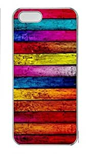 Custom Protector Case for iPhone 5C with Colorful Wood Hard Plastic Skin Case for iPhone 5C