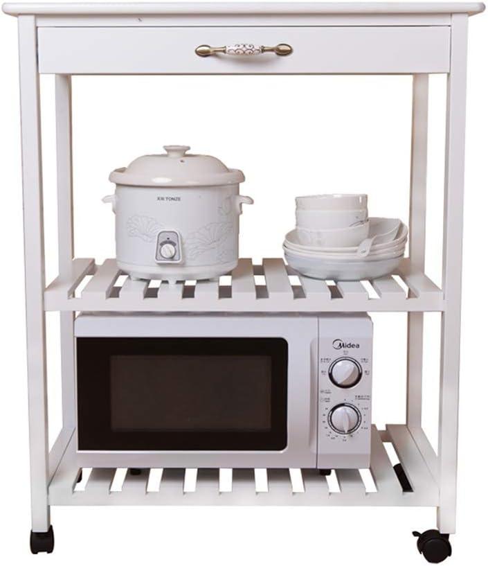 Liyanjin - Estantería de cocina de 3 niveles de madera maciza para ...