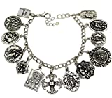 Catholic Religious Prayer Charm Bracelet - Saints Pray For Us